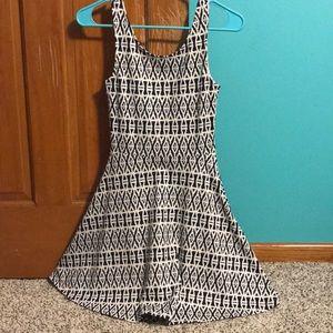 Geometric print fit & flare dress